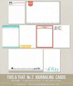 Image of *NEW* This & That No.2 Journaling Cards (Digital)