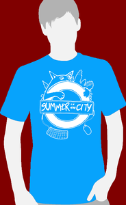 Image of Summer in the City 2013 Cat Tshirt (Blue)