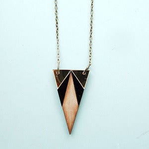 Image of Deco Triangle Necklace by Nylon Sky 