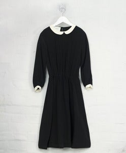 Image of Silk Cleric Collar Dress