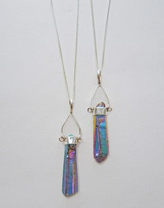 Image of Galactica Titanium Quartz Sterling Silver Necklace