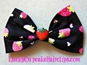 Image of Strawberries Forever Bow
