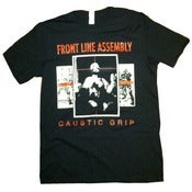 Image of FRONT LINE ASSEMBLY-Caustic Grip Shirt/ NEW Reissued print