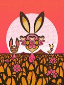 Image of BUNNIES! Pink colorway.
