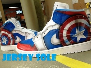 Image of Custom &quot;Captain America&quot; | Jordan Retro 1 by Killer Kreations