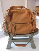 Image of Tan leather bag