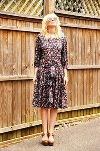Image of Lacy Collar Midi Dress