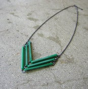 Image of LINK_CHEVRON necklace 3-row