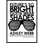 Image of Future's so Bright.... gotta wear shades- Graduation Invitation/Announcement