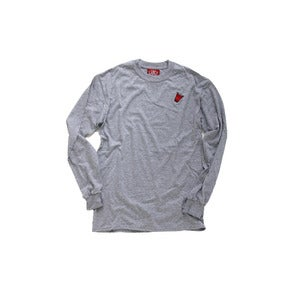 Image of The Ash Grey Red Cup L/S Tee