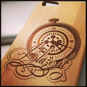 Image of Toke - Blaze It - Bamboo iPhone case