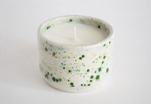 Image of Speckled jade ceramic soy candle