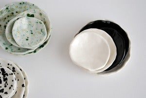 Image of White stack dishes