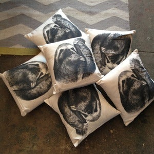 Image of Curator sloth pillow