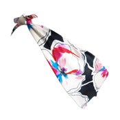 Image of April Pansy Print Silk Headscarf