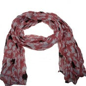 Image of Pink rabbit print scarf