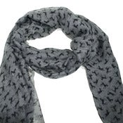 Image of Horse print scarf in grey