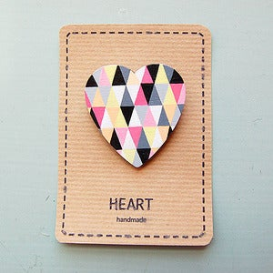 Image of Geometric Heart Brooch by Sketch Inc