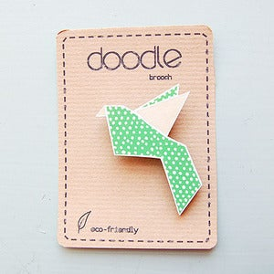 Image of Doodle Bird Brooch by Sketch Inc