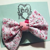 Image of Pink Kitty Bow (Large)