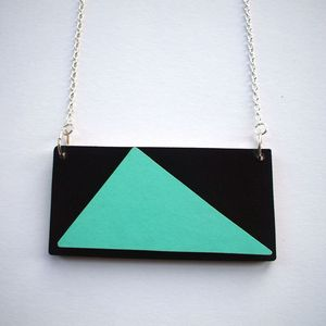 Image of Wooden Tribal Necklace - 'Mountain'