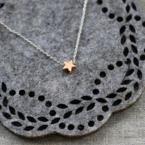 Image of Rose Gold Star Necklace