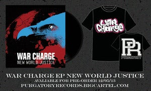 Image of War Charge EP New World Justice PRE-ORDER with T-Shirt