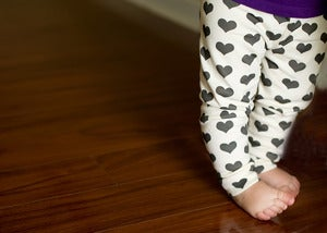 Image of organic cotton heart leggings