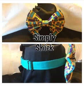 Image of Yellow, Purple & Turquoise Bowtie
