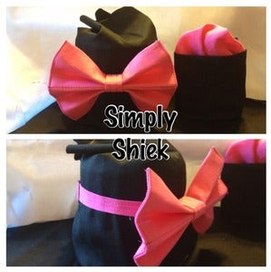 Image of Hot Pink Bow Tie