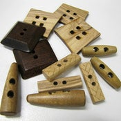 Image of Timber Buttons - Singles