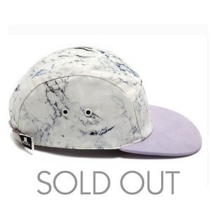 Image of MOUPIA X SHALLOWWW Marble/Light Lavender (suede) 5 Panel Hat