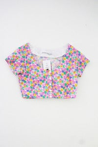 Image of Conversation Hearts Crop Top with Sleeves