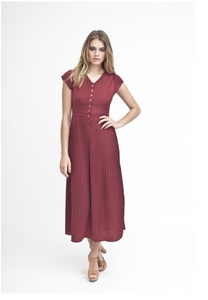Claret Midi Dress
