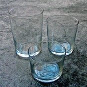 Image of set of 12 small bistro tumblers
