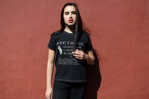 Image of NYCTOPHOBIA black heavy cotton t-shirt