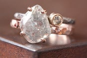 Image of Natural Diamond Slice Ring in 14kt Rose Gold-large