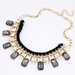 Image of GREY BIB NECKLACE