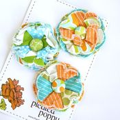 Image of set of 3 posy pins - 840