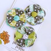 Image of set of 3 posy pins - 845