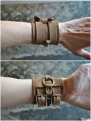 Image of big leather cuff