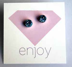 Image of Tiny Blue Drusy Studs