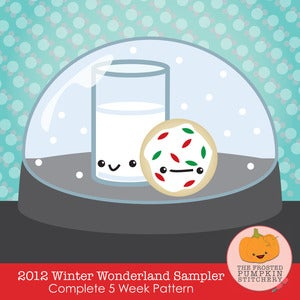 Image of 2012 Kawaii Winter Sampler Club PDF Cross Stitch Pattern