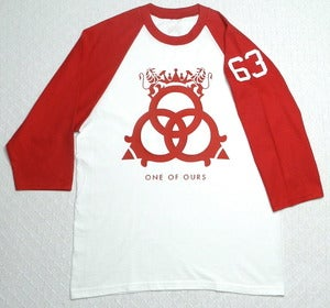 Image of White/Red ¾ Sleeve Baseball T-Shirt