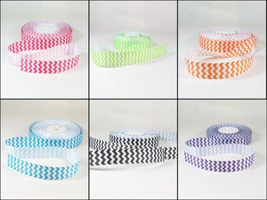 Image of Wide Chevron Grosgrain Ribbon