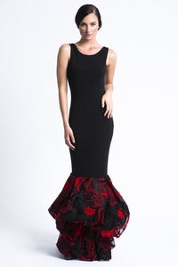 "Image of Black ""Bubble Tulle"" Evening Gown"