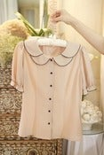 Image of Pearl Princess Blouse(Pale pink)