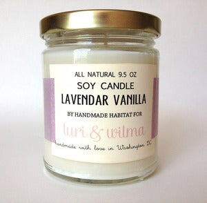 Image of Handmade Habitat Soy Candle for luri &amp; wilma