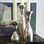 Image of hammered silver candlesticks