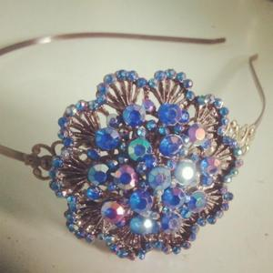 Image of Baby Blue- upcycled one of a kind sparkle headband